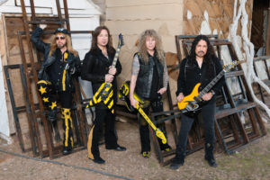 Stryper photographed in Las Vegas, January 2018